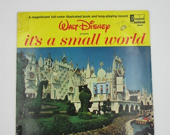It's a Small World record, vintage It's a Small World, vintage Disney record, Disneyland record, Disney book and record, vintage collectible