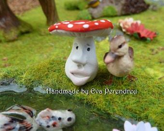 Miniature Faced toadstool for a Fairy Garden