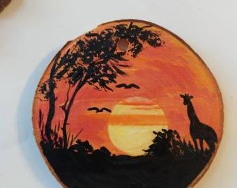 giraffe, silhouette ,ornament