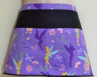 Disney Tinkerbell waitress half apron with three pockets 6180