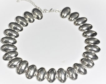 Vintage Silver Shells Necklace- Sterling Silver