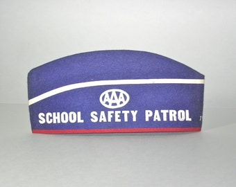 Vintage AAA School Safety Patrol Hat Alliance Automobile Club