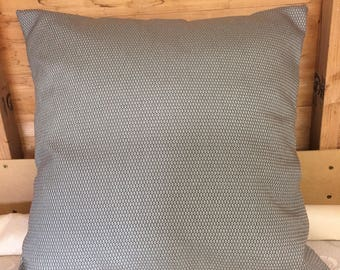 "Mint green and grey pattern 24"" x 24"" zipped cushion cover"