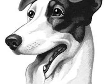Retro Mid-Century Puppy Dog - Digital Image - Vintage Art Illustration - Instant Download