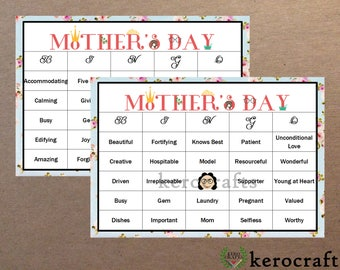 Mother's Day Bingo - 40 Cards