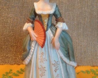 Vintage Andrea by Sadek Porcelain Victorian Lady with Fan, #9778