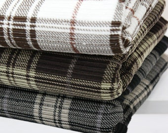Check pattern Corduroy Fabric, 3 colours, by Yard