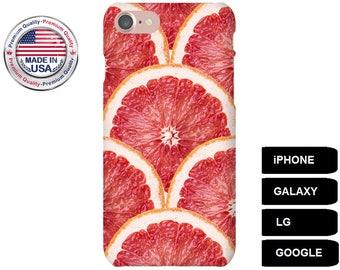 Grapefruit Phone Case, Phone Case Grapefruit, iPhone 5 Case, iPhone 6 Case, iPhone 7 Case, iPhone SE Case, Galaxy S5 Case, Galaxy S6 Case