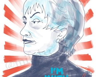 I'm With Bea Arthur art print