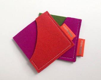 Business card sleeve etsy square card case by mlmxoxo felt card case business card holder unisex colourmoves