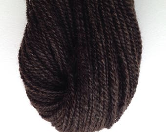 066 Handspun Natural Black Romney Yarn