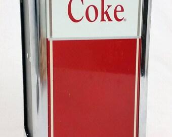 "Vtg 1992 Coca-Cola ""Have A Coke"" Metal Napkin Dispenser Advertising Diner Decor"