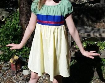 Mulan Dress - Mulan Inspired Cotton Dress - Mulan Play Dress - Mulan Green Dress - Girls Mulan Costume - Mulan Disneybound