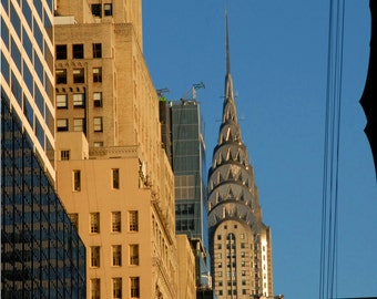 Fine Art Photography, Chrysler Building, New York Skyline, Giclee Art Print New York City Wall Art, Deborah Julian