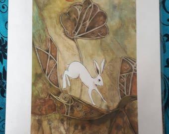 Pagan Hare  A4 Print