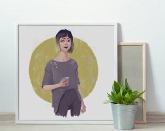 Poster digital  Art Illustration print Wall decor Printable art