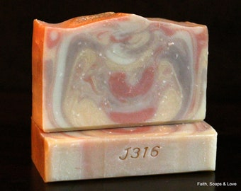 Mayan Gold Handmade Cold Process Soap - Homemade Soap - Patchouli - Plumeria - Sweet Orange