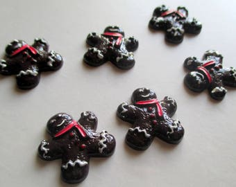 x 1 embellishment resin - Mr Biscuit bread of spicy Christmas Christmas Xmas