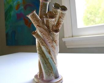 Mid Century Modern, Weedpot, Bud Vase, Vintage Retro Handcrafted Pottery