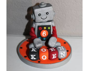 Custom Robot Cake Topper for Birthday or Baby Shower