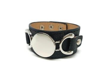 Cuff Bracelet black and mirror
