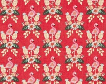 Flamingo Fever Bird's of a Feather Coral Color  ~ Flamingo Fever Collection for Adornit Fabrics
