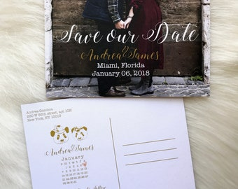 Custom Save The Date Postcard