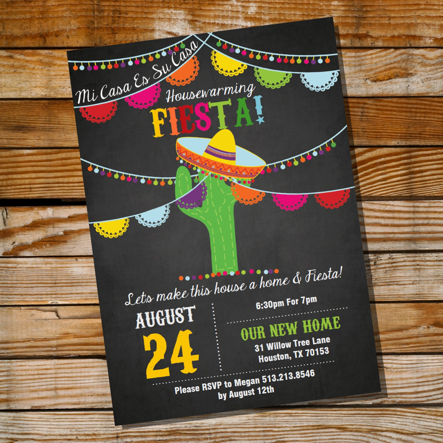 Mexican Fiesta Housewarming Invitation Housewarming Party