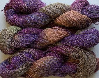 Sparkle,  fine cotton/metallic yarn, 300 yds - Vineyard
