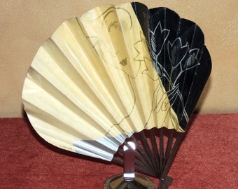 Art Deco French Advertising Fan  for Galeries Lafayette 1920's
