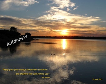Inspirational Quote Photo Wall Art  Sunset with Quote JPEG Digital Download/Zen Meditation Art Photo