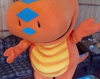 """new dino dinosaur  character mascot costume  Sz 5' 9"""""""