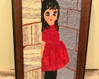 Girl with the Red Shoes Needlepoint