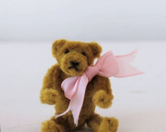 Miniature Pipe cleaner teddy bear, fully posable