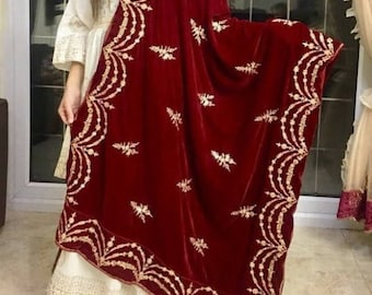 Luxurious Heavy Embroidered and Ready to Wear Velvet Shawls