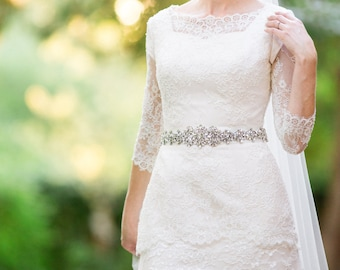 Wedding dress belt - bridal sash - rhinestone bridal belt - crystal bridal sash - bridal belt - bridal dress belt -  bridal sashes and belts
