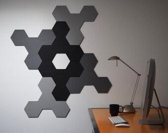 3D Wall Sculpture | Six Panel Wood Wall Art | Modern Geometric Sculpture | Custom Corporate Artwork | Abstract Painted Design | Relief Art
