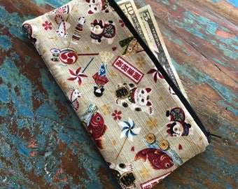 pencil zipper pouch Japanese Flair