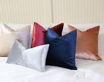 Silk Velvet pillow cover / Decorator Pillows / Decorative Throw Pillow Covers / Pillow Slipcovers -VEL5