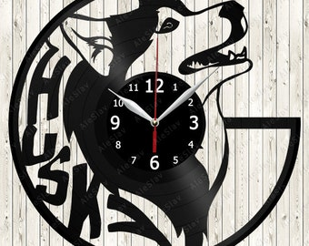 Husky Vinyl Record Wall Clock Handmade Art Decor Your Room Original Gift 1533