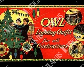 Owl Lighting Decorations 2 x 3 Fridge Magnet