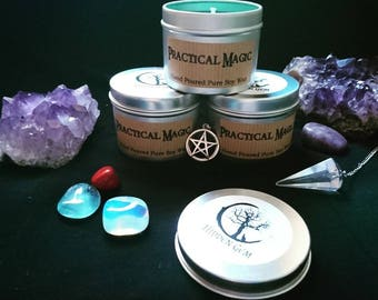 Practical Magic candle Halloween candle witch candle
