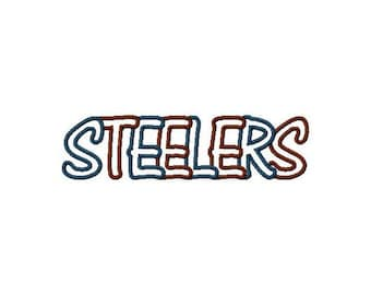 Instant Download Steelers Multi Fabric Embroidery Machine Applique Design-988