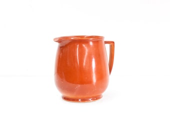 Large English Coral Pitcher
