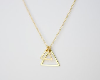 The Mountains Are Calling - Double Triangle Necklace