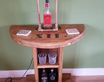 Half Cable Drum side Table