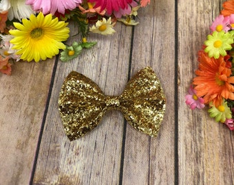 Gold Sparkle Bow