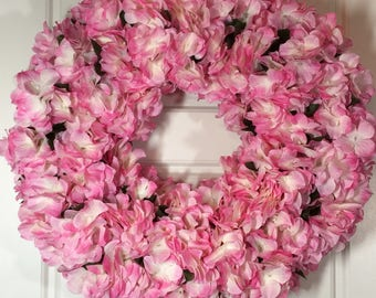 Pink Hydrangea Wreath Will Bring Spring to Your Front Door and Is a Great Gift for Mom