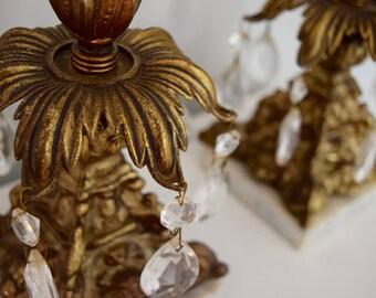 Vintage Prism Candle Stick Holders