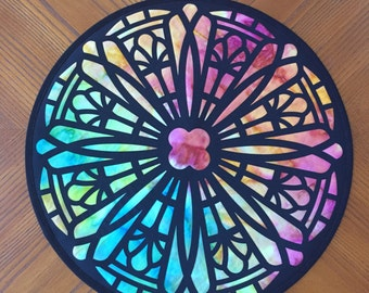 Cathedral Window Table Topper